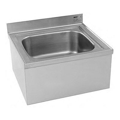 Eagle Group F1916-12-X Stainless Steel Floor Mount Mop Sink w/ 12in Deep Bowl