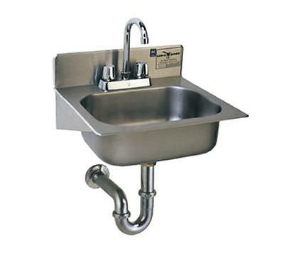 Eagle Group SS Wall Mount Hand Sink w/ Deck Mounted Faucet 14in x 10in