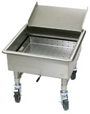 Eagle Group MSS2020SC-X SS Soak Sink w/ Silver Chute Mobile 4 Casters NSF
