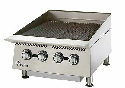 "Star 8124RCBB Ultra-Max 24"" Wide Countertop Radiant Gas Charbroiler"