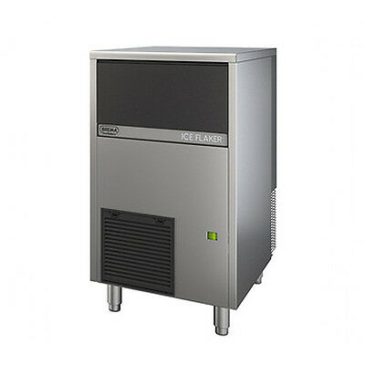 Brema GB903A 200lb Undercounter Flake Ice Maker w/ Bin Air Cooled