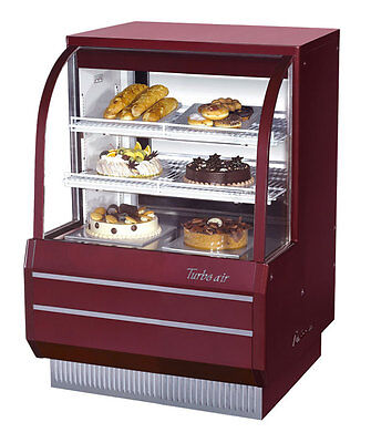 "Turbo Air 36.5"" Curved Glass Non-Refrigerated Dry Bakery Display Case TCGB-36-DR"