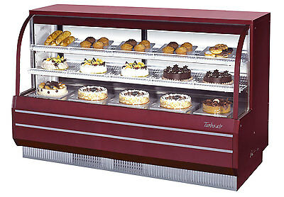 "Turbo Air 72.5"" Non-Refrigerated Dry Bakery Display Case Curved Glass TCGB-72-DR"
