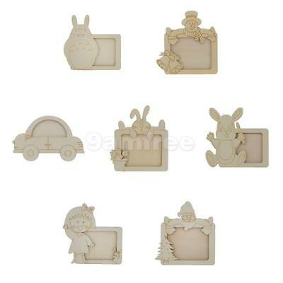 Unfinished Wooden Picture Frame Decor Photo Frame Winter Party Christmas Favor
