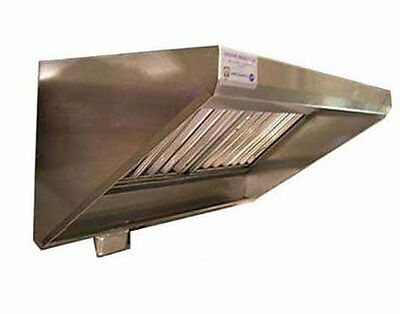 Superior Hoods 8 Ft Stainless Steel Concession Range Grease Hood NSF NFPA96 - CS