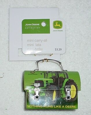 Collectible John Deere Mini Green Carry-all Lunch Box Ornament