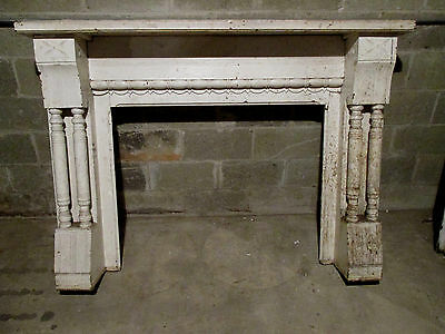 ~ Antique Carved Walnut Fireplace Mantel 66 X 47 1 Of 2~ Architectural Salvage ~
