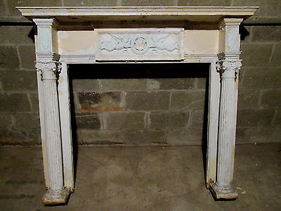 ~ Antique Fireplace Mantel Angels Putti 60 X 51 ~ Architectural Salvage ~