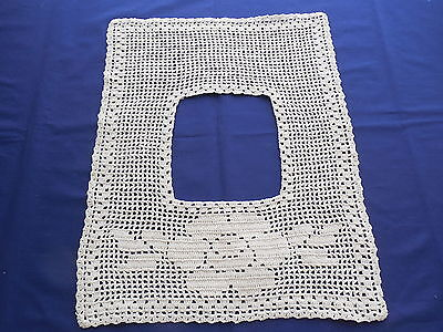 Vintage White Filet Crochet Yoke or Collar Flower Pattern