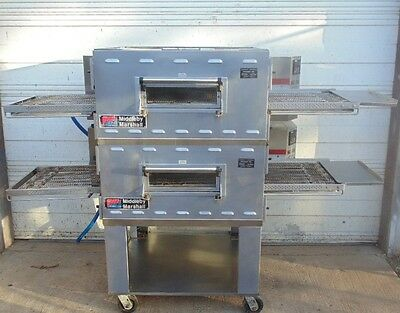 Middleby Marshall PS536 GAS Double Stack Conveyor Pizza Ovens.