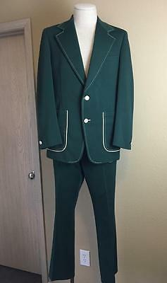Vintage 1960's green Clubman leisure style type suit Size 40 Pants W 34 X 32""