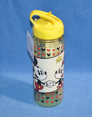 Disney Mickey & Minnie Mouse Yellow Water Bottle