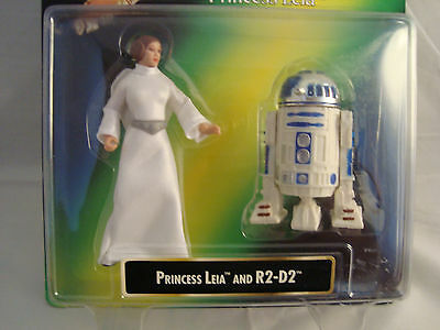 Star Wars-Princess Leia&r2-D2-Carrie Fisher-Pl-Collection-1997-Card-Kenner-Rare!