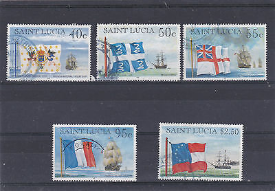 "St Lucia 1996 ""flags And Ships"" Group Sg.1145,1146,1147,1150 & 1152 Fine Used"