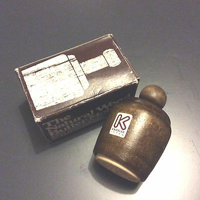 Vintage Natural Wood Butter Mold By Alfred E. Knobler & Co, New Jersey. Japan