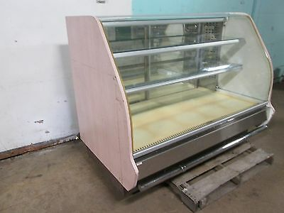 """columbus"" H.d. Commercial Lighted Curved Glass Refrigerated Bakery Display Case"