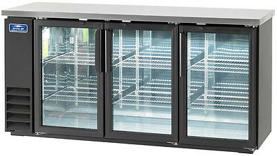 "Arctic Air 72"" 3 Glass Door Back Bar Cooler - Abb72G"