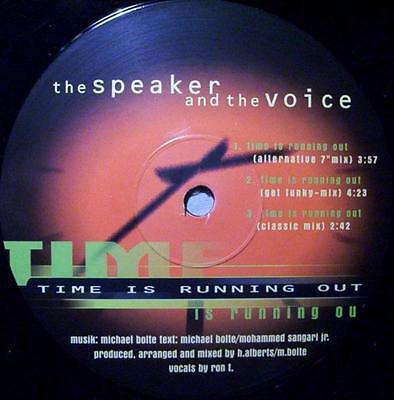 The Speaker And The Voice Time Is Running Out Vinyl Single 12inch NEAR MINT