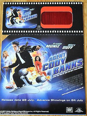 Agent CODY BANKS Promo Spy Card new