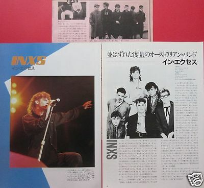 INXS Michael Hutchence 1984 CLIPPINGS JAPAN MAGAZINE RS 5A 3PAGE