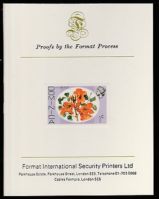 Dominica (404) 1975 African Tulip 1c imperf Format International PROOF  CARD