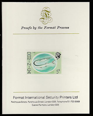 Dominica (416) 1975 Gare Fish 5c imperf  on Format International PROOF  CARD
