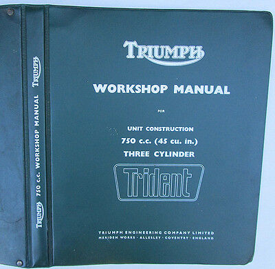 TRIUMPH TRIDENT MOTORCYCLE WORKSHOP MANUAL BOOK 750cc T150 3-CYLINDER 1968 ON