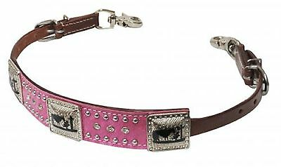 PRAYING COWBOY Western MEDIUM Oil Leather WITHER STRAP Breast Collar Horse Tack