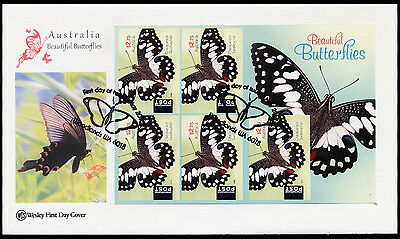 2016 Australia - Wcs - Beautiful Butterflies Booklet - Fdc - Cover - Wcs52
