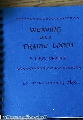 Weaving On A Frame Loom - A First Project [SC] WARP PATTERNS TECHNIQUES PROJECTS