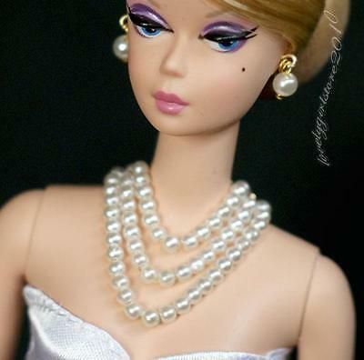 Fashion Barbie doll jewelry necklace earrings for Barbie doll 882A