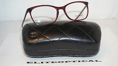 New Authentic CHANEL RX Eyeglasses Burgundy 3281 C.539 54 17 140