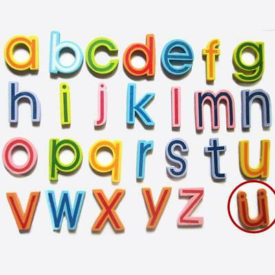 27pcs Wooden Letters Lower Case Alphabets Magnetic Kids Educational Toys