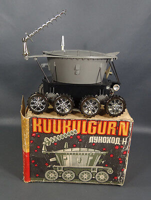 1970 Russian Space Batt. Toy Moon-Rover Lunochod N Robot Vehicle Norma Mint Box