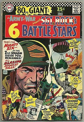 "OUR ARMY AT WAR #177 (""Sgt. Rock's Battle Stars,"" 80-Page Giant) DC, 1967"