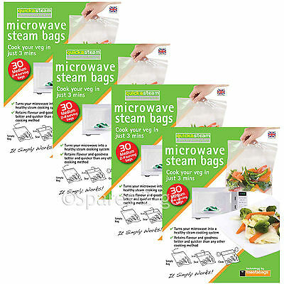 Microwave Oven Vegetable Steam Bags Quick Veg Steaming Quickasteam Medium x 120