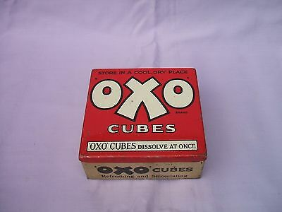 "Old OXO Cubes Empty Tin ""Refreshing and Stimulating"" circa 1930s"