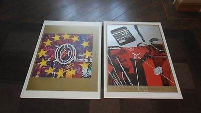 U2.zooropa.elevation Boston. 2 Lithograph Posters Mint Condition