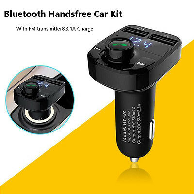 Wireless Bluetooth Car Kit MP3 Player FM Transmitter Radio Adapter 2 USB Charger