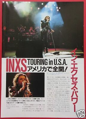 INXS TOUR IN USA Michael Hutchence 1986 CLIPPINGS JAPAN MAGAZINE RS 3A 3PAGE