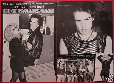 SEX PISTOLS SID VICIOUS Nancy Spungen 1978 CLIPPINGS JAPAN MAGAZINE RS 8A 3PAGE