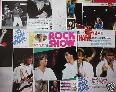 Wham! Japan George Michael Andrew Ridgeley 1985 Clippings Magazine Rs 4A 12Page