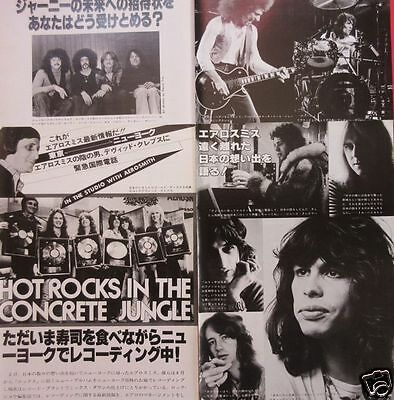 Angel Punky Meadows Aerosmith Journey 1977 Clipping Japan Magazine Rs 9A 7Page