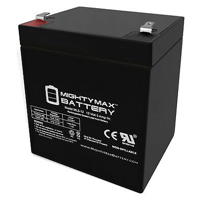 Mighty Max 12V 5AH SLA Battery Replacement for Vision CP1250H