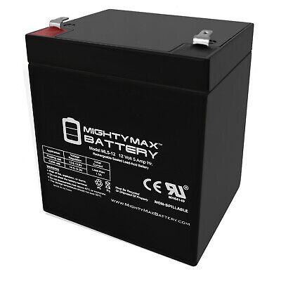 Mighty Max 12V 5AH SLA Battery for Black & Decker Grasshog-CST2000 Lawn Mower