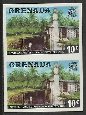 Grenada (427) 1975 Rum Distillery 10c IMPERFORATE PAIR u/m