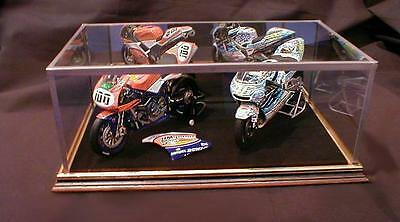 1:12 Minichamps Double Model Superbike - Glass Display Silver Base Case Only