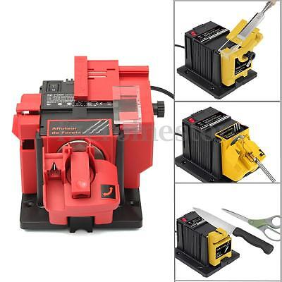 Electric Multi Function Sharpener Drill Bit Scissor Chisel Planer Grinding Wheel