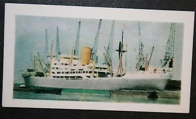 SS Benvrackie     Ben Line   Connell Glasgow   Illustrated Colour Card