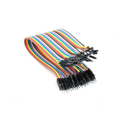 40pcs 1pin 20cm 2.54mm Male to Male Jumper Wire Dupont Cable for Arduino